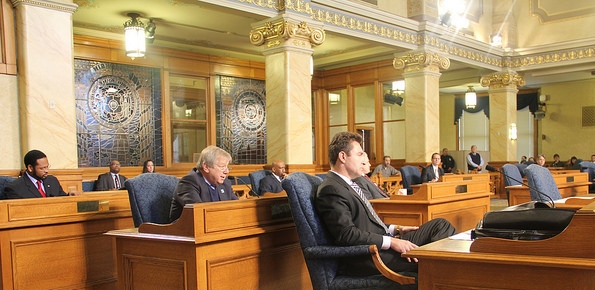 Photo of Common Council session in City Hall Chamber